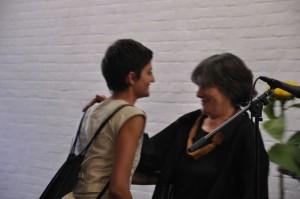Trinidad Contreras receiving the Marzee Graduate Prize 2010