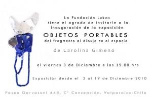 invitacion a la exposición individual de Carolina Gimeno