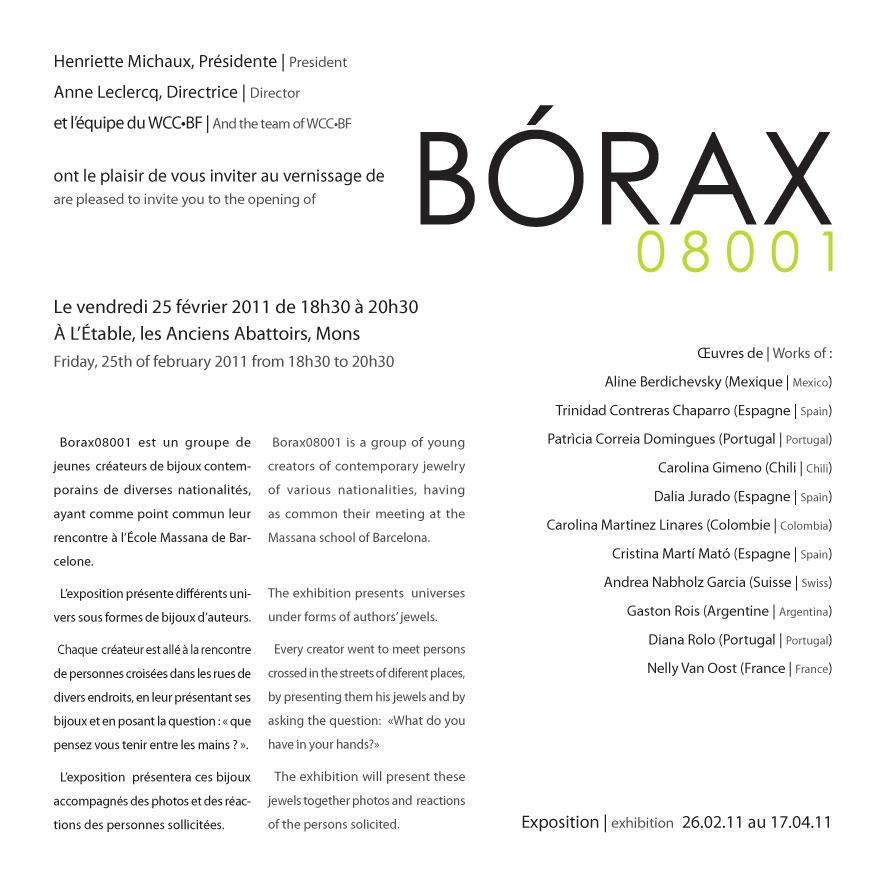 Info Exposition Bórax08001 @ Mons